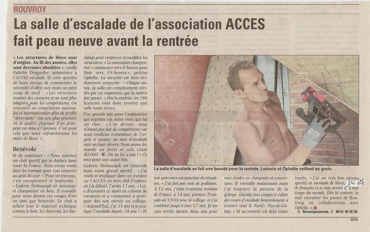 La salle d'escalade de l'association ACCES fait peau neuve avant la rentrée