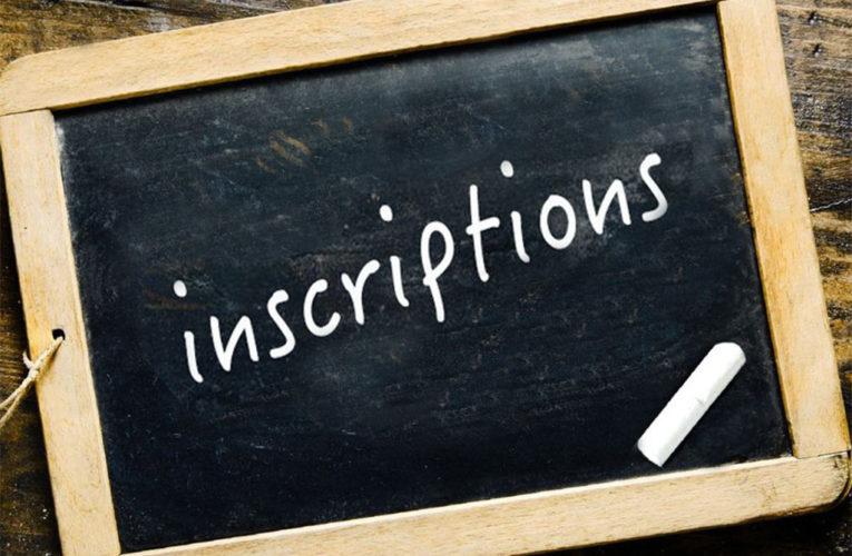 Inscriptions adultes (13ans et plus)